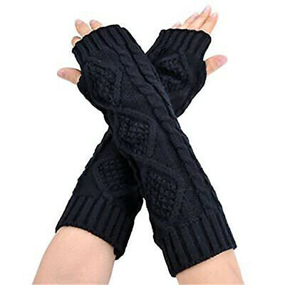 Women Cute Protection Arm Warmer Long Fingerless Stretchy Gloves Sleeves Mittens • 1.79£