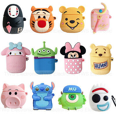 $ CDN7.25 • Buy Cute Cartoon Stitch Silicone Airpod Protective Case Cover Skin For Airpods 1 2
