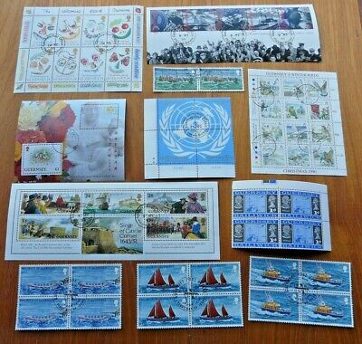 Guernsey Collection Of Vfu Mini-sheets, Sets, Singles Etc • 2.99£