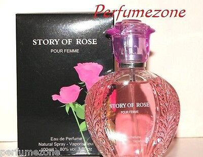Brand New Story Of Rose Ladies Perfumes Very Nice Smell 85ml For Women • 5£