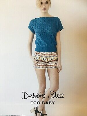 Debbie Bliss Eco Baby Knitting Pattern DB071 - Lace & Knot Top • 3.70£