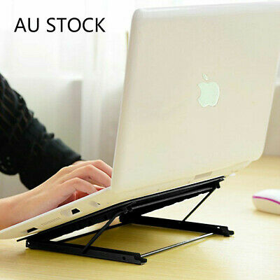 AU22.98 • Buy Laptop Stand Adjustable Notebook Table Portable Tray Lazy Foldable Computer Desk