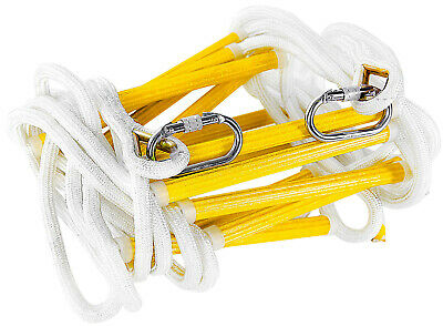 Emergency Fire Escape Rope Ladder For Home Up To 2 - 4 Story With Carabiners • 46.88£
