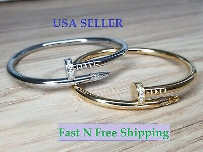 $17.99 • Buy Nail Style Love Bracelet Bangle Cuff Screw Juste Un Clou Nail High Quality Perfe