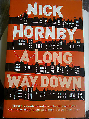 Paperback Book A Long Way Down Fiction Drama By Nick Hornby (about A Boy) • 1.95£