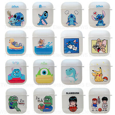 Airpods Case Protective Stitch Soft Clear Slim Cover For IPhone AirPod 2/1 • 3.14£