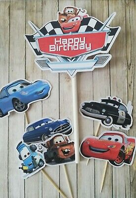 Disney Cars Cake Topper Set Cake Decor Lightning Mcqueen Personalised  • 4.20£
