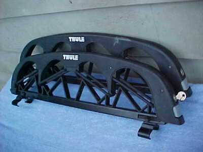 $69.99 • Buy Thule Ski Roof Rack For Factory Oval Bar Holds 4 Pairs Of Skiis FREE SHIPPING