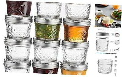 $27.38 • Buy Ball Mini Quilted Crystal Jelly Jars 4 Oz [12 Pack] Regular Mouth Mason Jars 12