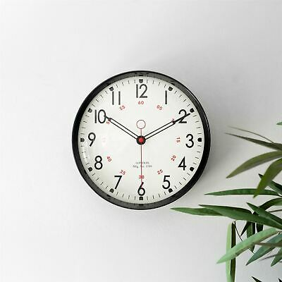 AU39.99 • Buy Metal Wall Clock Retro Large Round Home Office Bedroom Kitchen Work - Black