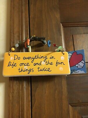 $7.50 • Buy Sandra Magsamen - Silvestri Message Plaque  Do Everything In Life Once...  NWT