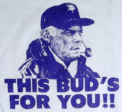 $37.99 • Buy Vtg Bud Grant Shirt Sweatshirt This Buds For You MN Vikings Coach 1970s Youth M