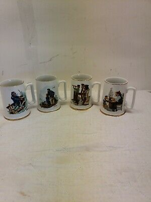 $ CDN38.21 • Buy Vintage Norman Rockwell Coffee Mugs, Set Of 4