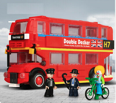 $ CDN27.93 • Buy 382PCS London Double Decker Bus Building Blocks Brick Figures Model Toys Set