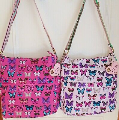 £12.99 • Buy Anna Smith (Genuine) Butterfly Print Tote/Messenger/Shoulder Bag - Gift Idea