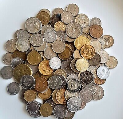 Foreign Coins World 150+ 500g+ • 4.99£