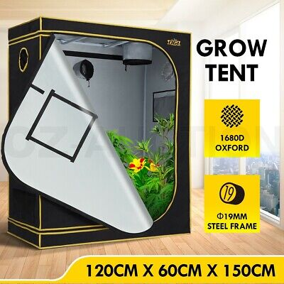 AU134.95 • Buy 120x60x150cm Hydroponic Grow Tent Reflective Plant Room W/Observation Window