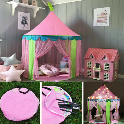 Baby Girls Pop Up Play Tent Princess Playhouse Indoor Outdoor Game Castle Teepee • 17.55£