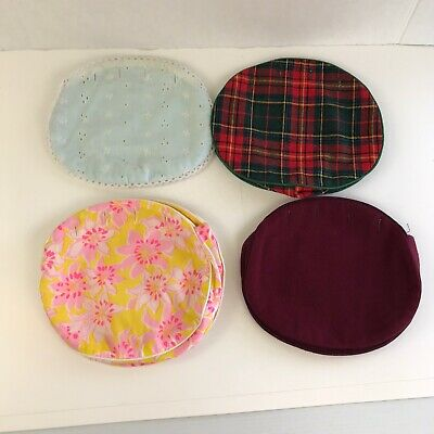 $24.99 • Buy Lot Of 4 Vintage Bermuda Bag Purse Covers Only 70s 80s Preppy Small 8  X 7.5