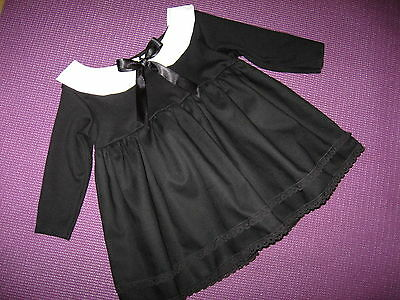 £27.50 • Buy  Black White Collar Dress Baby Gothic Outfit Lace Wednesday Headband Shower Gift