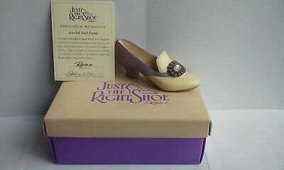 Jeweled Heel Pump #25011 From Just The Right Shoe Model By Raine (c) 1998 • 2.50£