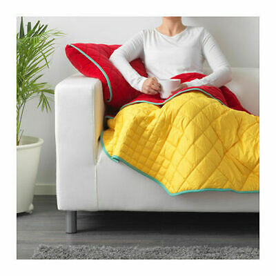 IKEA Throw With Cushion Cover IKEA PS 2017 Red & Yellow New • 29.99£
