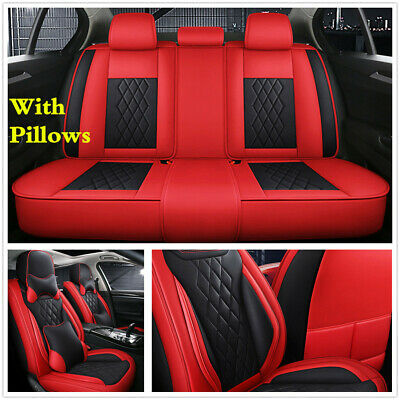 $ CDN198.68 • Buy Deluxe 5D Microfiber Leather Car Full Set Seat Covers For Interior Accessoris
