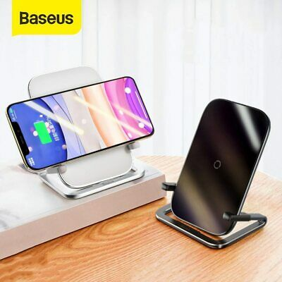 AU32.99 • Buy Baseus 15W Qi Fast Charging Wireless Charger Pad Stand Dock For Samsung IPhone