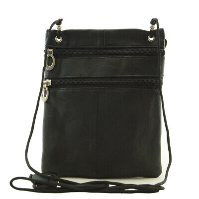AU17 • Buy Sheepskin Leather Small Cross Body Bag For Travel Passports Card Coins