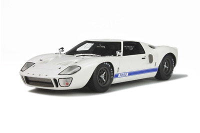 GT Spirit GT131 Ford GT40 White Blue 1:18 Scale Resin Model NEW • 95.99£