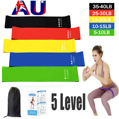 AU16.99 • Buy Resistance Bands   Heavy Duty Exercise Fitness Loop Set For Gym Stretch Yoga Lot