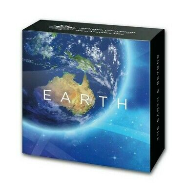 AU1998 • Buy 2018 Australia 1oz Silver Proof Coin $5 Domed Earth And Beyond:The Earth Coin