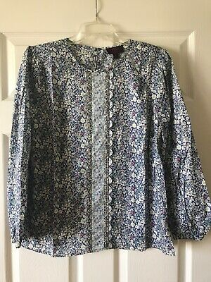 $39.99 • Buy NWT J. Crew Spring 2020 Womens Mixed Liberty Floral Scalloped Blouse XL 16