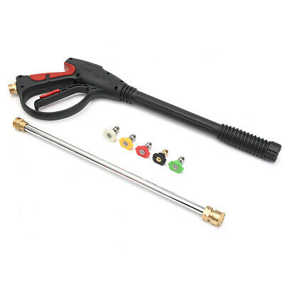 Pressure Washer Gas Power Gun Car Cleaning Lance/Wand Kit & 5 Spray Tips 4000PSI • 62.99£