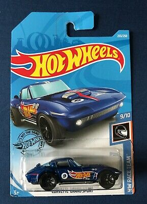 $1.60 • Buy Hot Wheels Race Team: Chevrolet Corvette Grand Sport - Blue (2019)