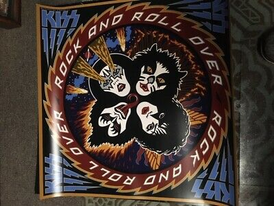 Kiss Rock And Roll Over Album Poster Gene Simmons Paul Stanley Ace Frehley • 8.15£