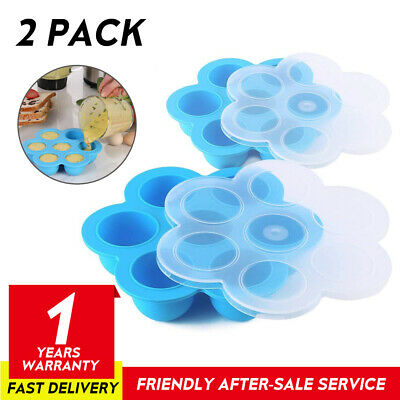 $14.95 • Buy 2 Pack Silicone Egg Bites Molds With Lid Fits 5,6,8 Qt Instant Pot Accessories