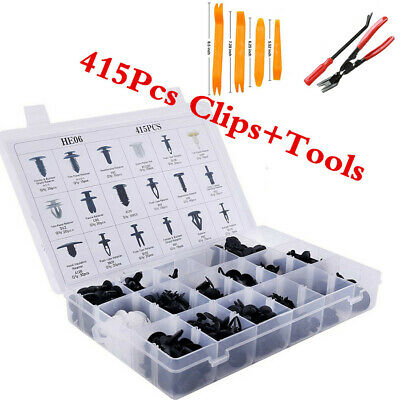$ CDN30.84 • Buy Automotive 415Pcs Trim Clip Fastener Bumper Car Rivets Push Pins W/Remover Tools