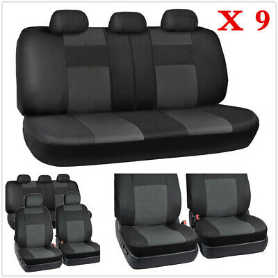 $ CDN57.64 • Buy 9X Car Seat Cover 5-Sits PU Leather Front Rear Set Universal Auto Accessories