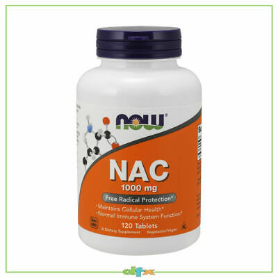 AU43.90 • Buy Now Foods NAC, N-ACETYL-CYSTEINE, 1000 Mg 120 Tabs, Immune Support, Amino Acids
