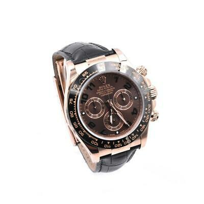 $ CDN38694.44 • Buy Rolex Daytona 18k Rose Gold Cosmograph Watch With Black Alligator Strap Ref. #11
