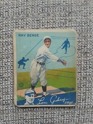 $75 • Buy 1934 Goudey Lot 4 Different