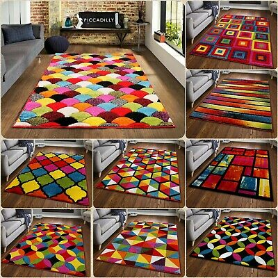 Modern Luxury Hand Carved Multi Color Carpets Runner Mats Small Large Area Rugs • 14.99£