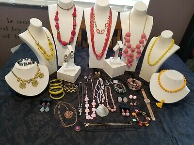 $ CDN25 • Buy Pink And Yellow Vintage To Now Costume Jewelry Lot 36 Pieces