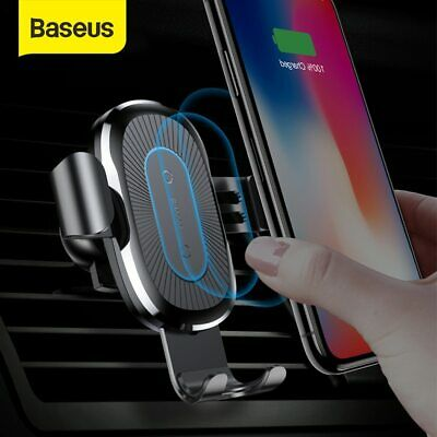 AU24.99 • Buy Baseus Qi Wireless Car Charger Auto Clamp Phone Holder CD Slot Air Vent Mount