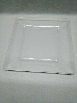 $7.82 • Buy Dinnerware Mainstay Modern Square  Clear Glass Dinner Plate Dish 10  Replacement