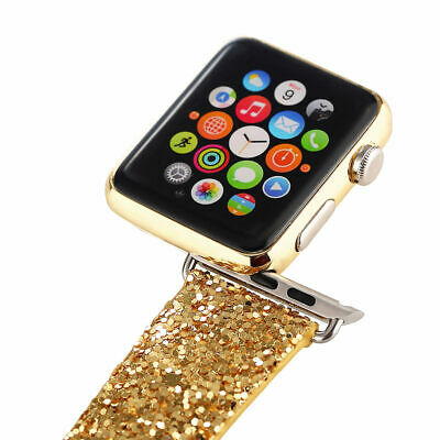 $ CDN21.20 • Buy For IWatch 38mm / 42mm Apple Watch Classic Glitter Bling Wristband Strap Band