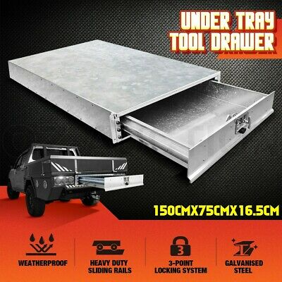 AU619.95 • Buy Steel Under Tray Tool Box Trundle Roller Drawer Ute Truck Trailer Lock Toolbox