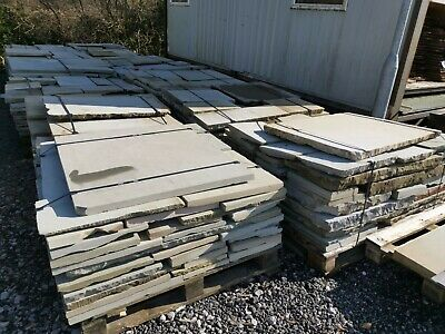 Reclaimed Second Face Yorkstone Paving • 75£