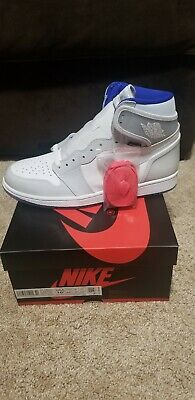 $220 • Buy Nike Air Jordan 1 Retro High Zoom White Racer Blue Size 10.5 CK6637-104